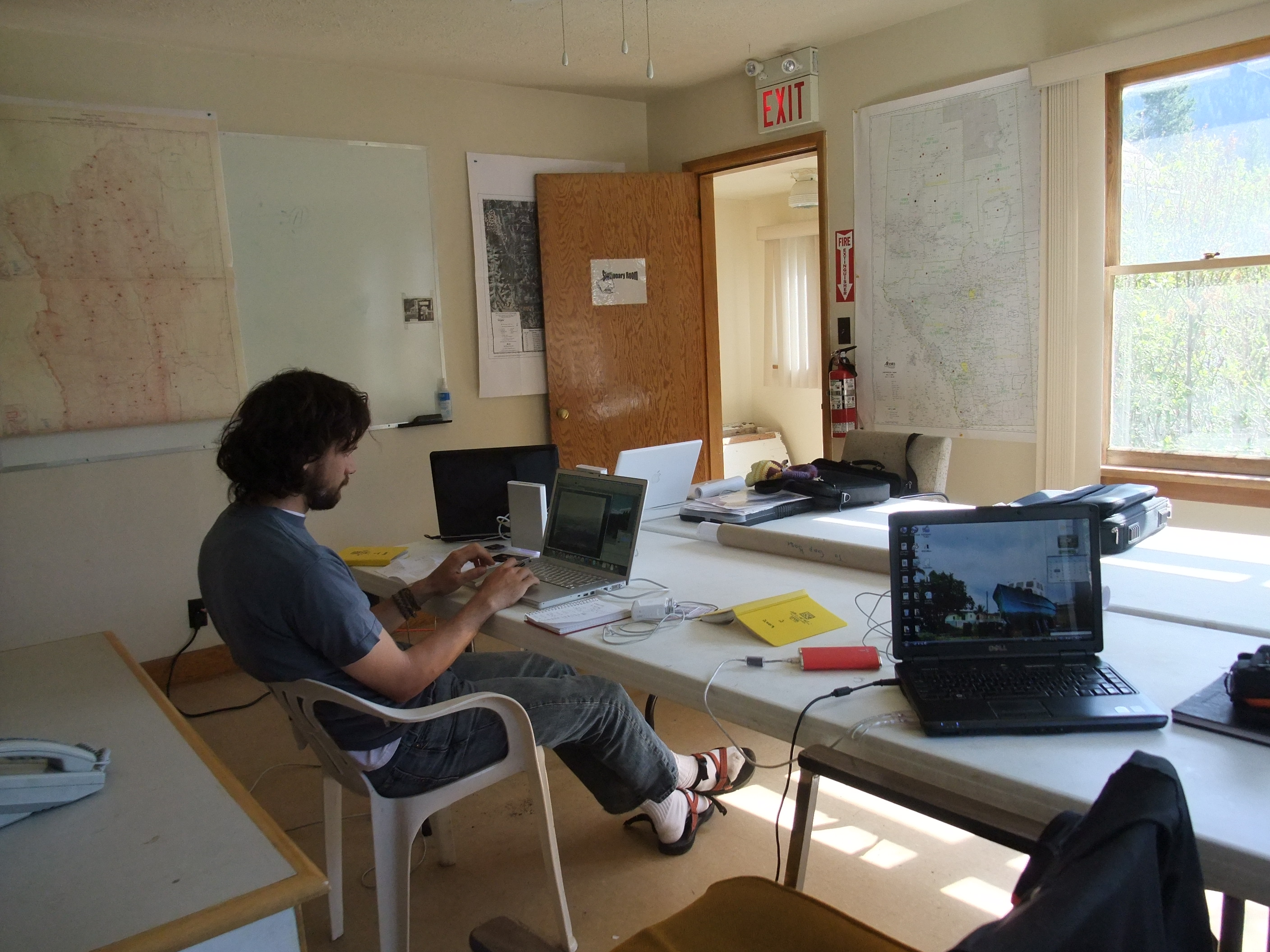 The office at the Livingstone Gap firebase