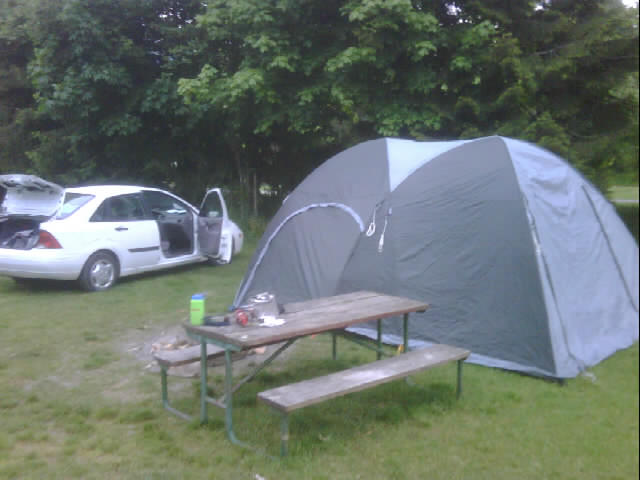 Is that tent bigger than your car?