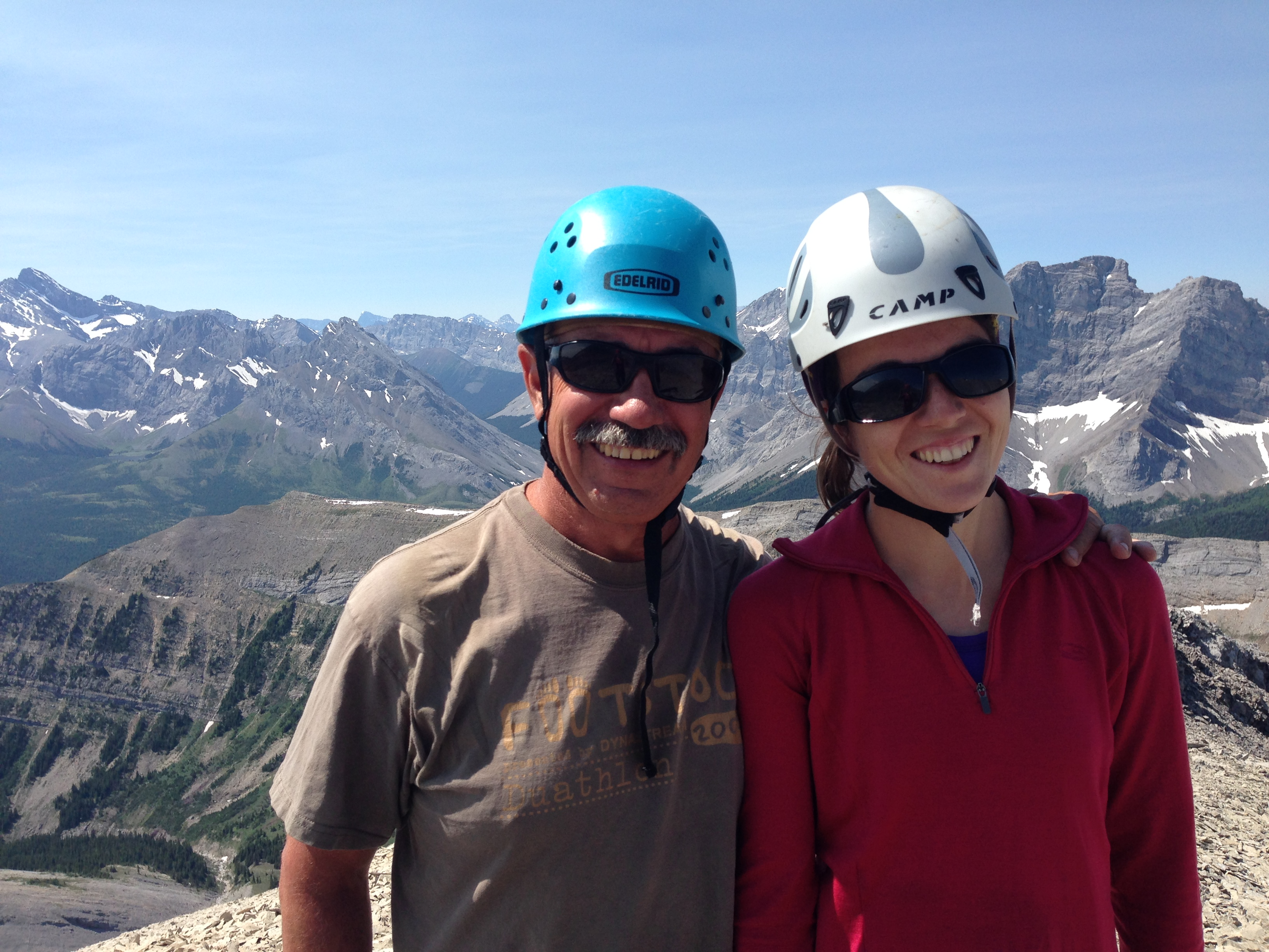 "[Rick Arthur, Vladka Lackova-Gat] The Rocky Mountains are notoriously ""easy crumbling"". We will likely be yelling ""rock"" lot this summer, when throwing loose pieces over the ridge."