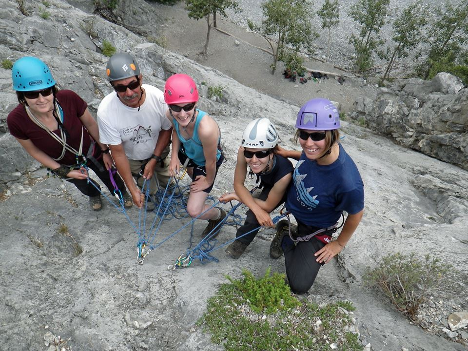 Nicole, Rick, Tanya, Vladka and Kristen enjoying a fun day of short rope training and delightful company.  Photo credit:  Brent Davis