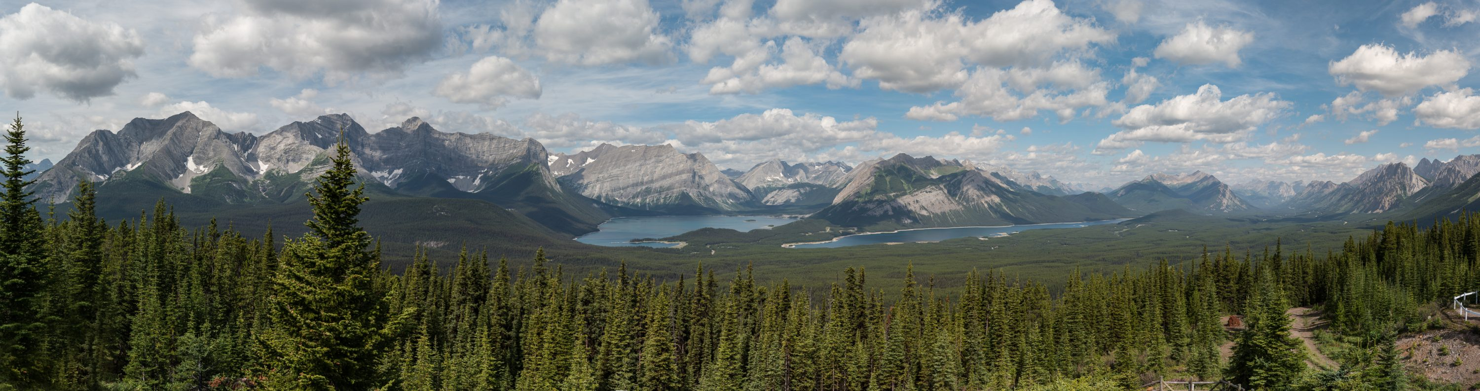 Kananaskis Lakes from the Lookout: MLP 2015