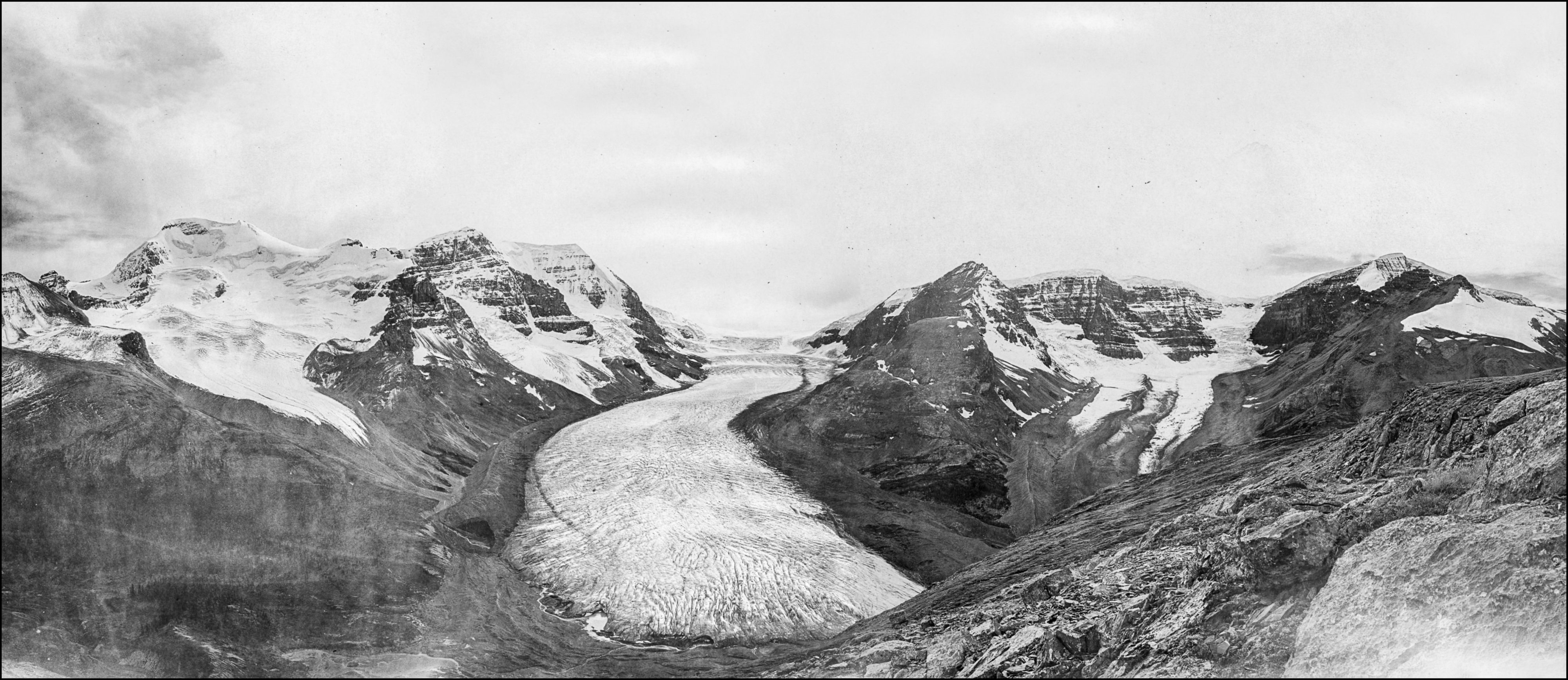 The Athabasca Glacier: A. O. Wheeler, 1917