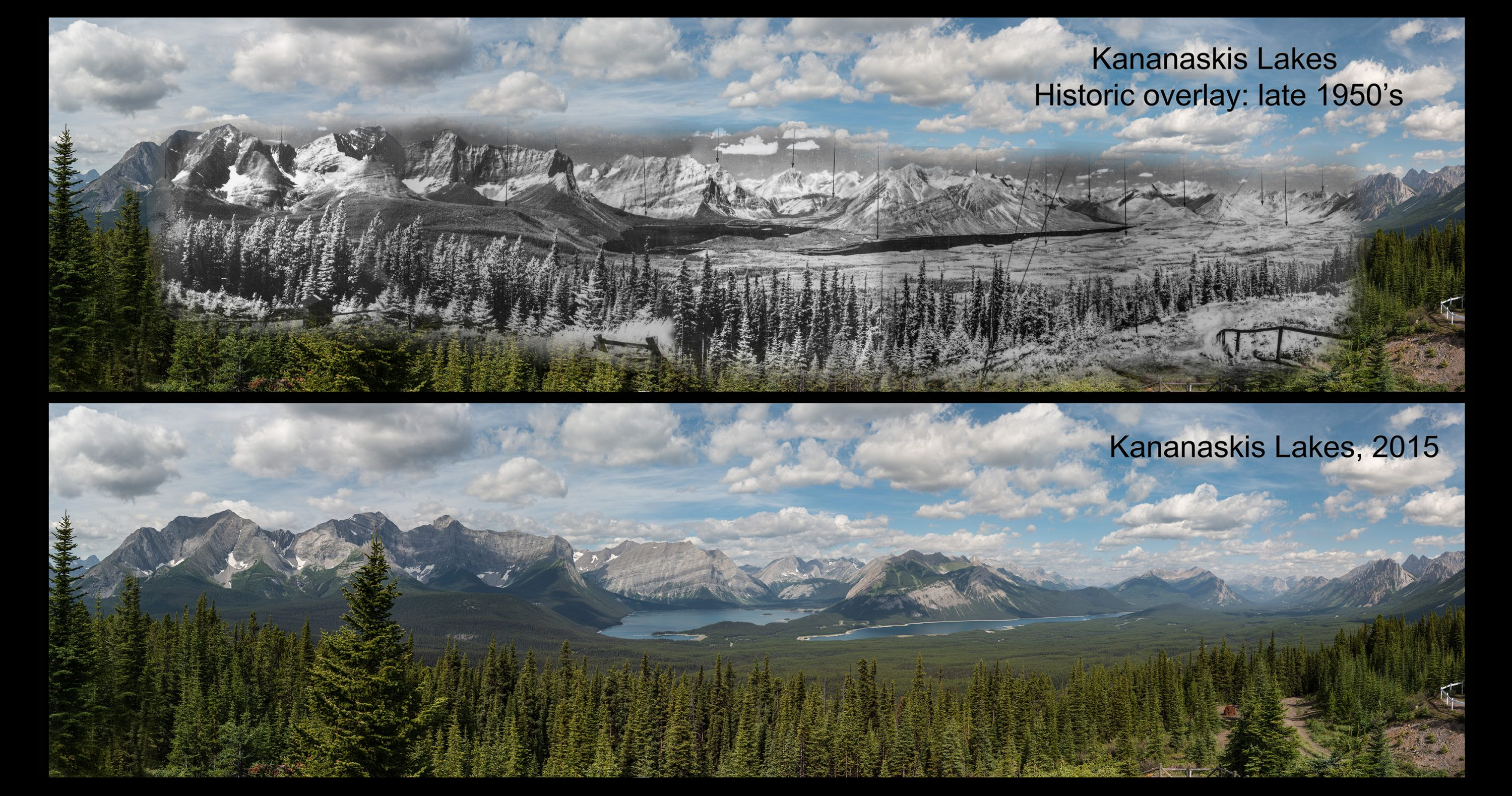 Kananaskis Lakes: 1950's and 2015