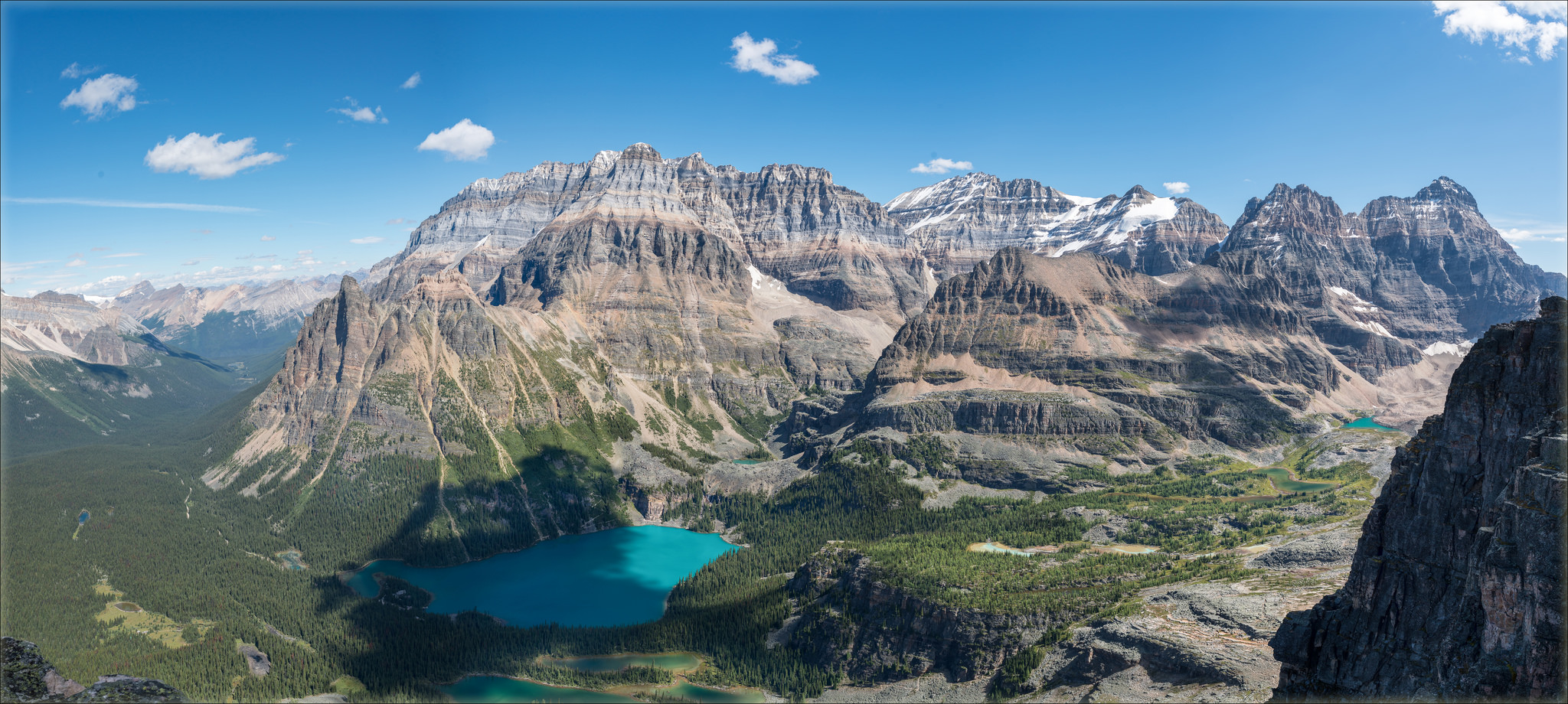 Lake O'Hara from Mt. Schaffer, MLP, 2016