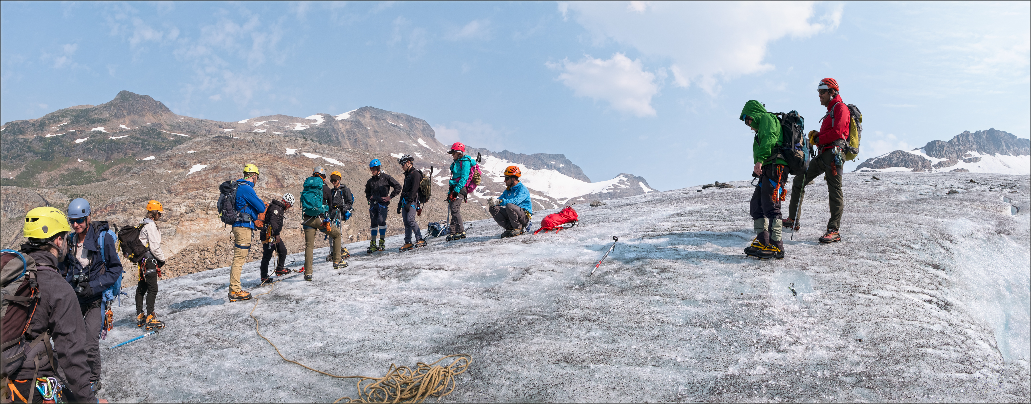 University of Alberta students on the Justice Glacier
