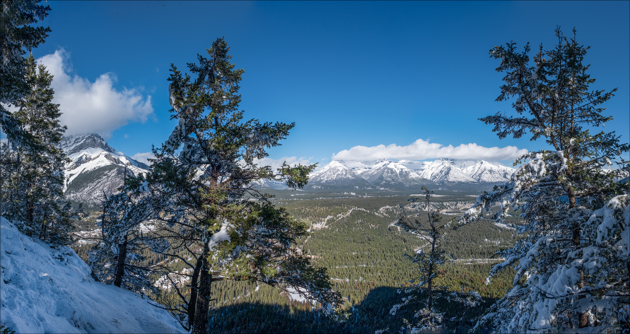Looking eastward from Tunnel Mtn: 2018