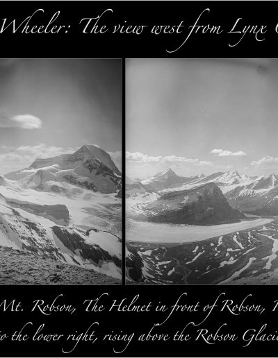 Lynx Centre Station looking over Mt. Robson and the Robson Glacier - A. O. Wheeler, 1911
