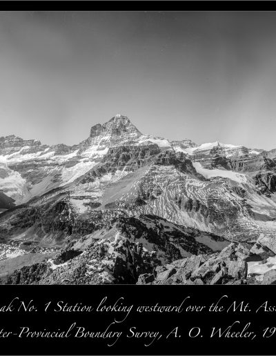 Wonder Peak No 1 Station: A. O. Wheeler, 1913