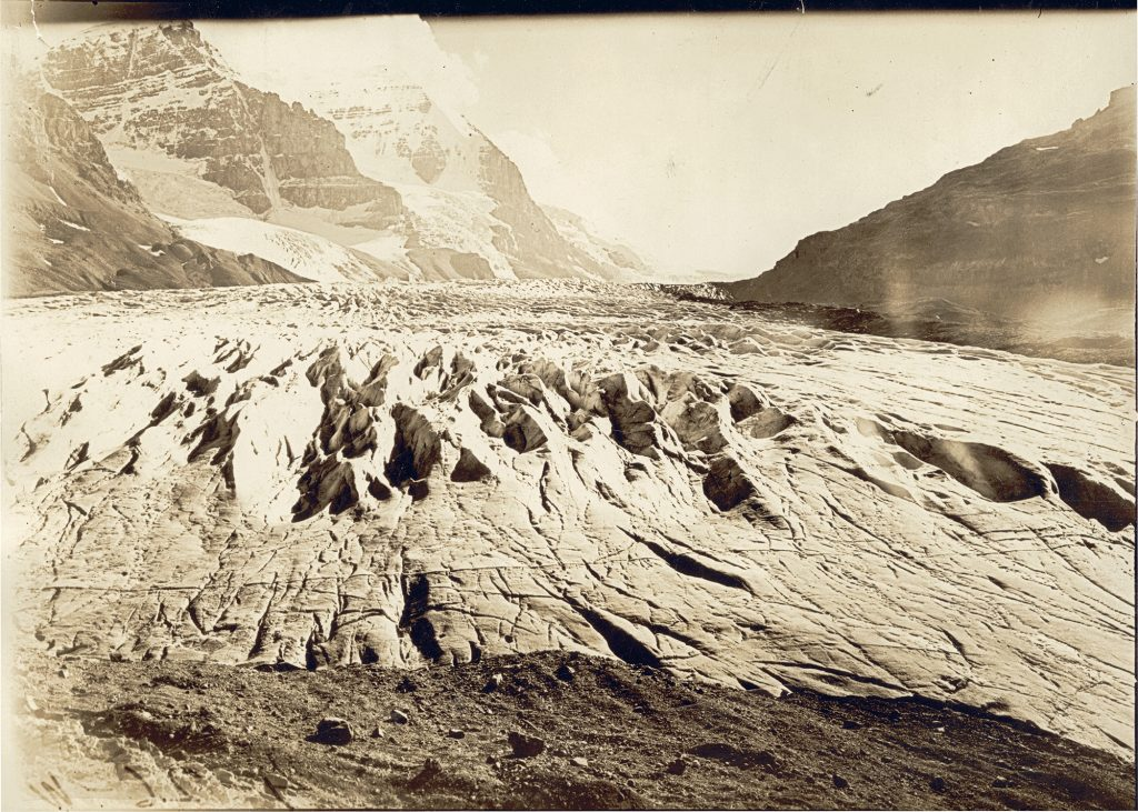 Toe of Athabasca Glacier in 1917 from the Arthur Wheeler Interprovincial Boundary Survey